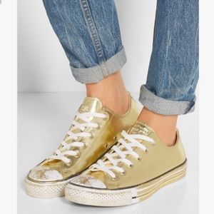 Chuck Taylor Converse All Chrome gold shoes 6